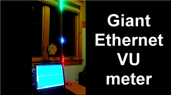 Giant Ethernet VU meter