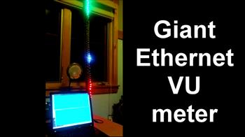 Giant Ethernet VU meter