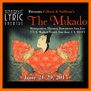 Poster image from Lyric Theatre's 2014 performances of The Mikado