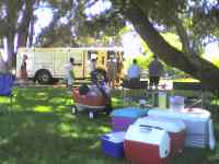 Fire truck at the park