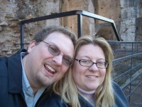 Us enjoying the thought of good wholesome public entertainment at the Colloseum.